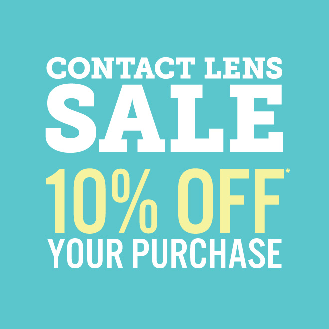 10% Off your complete contact lens order