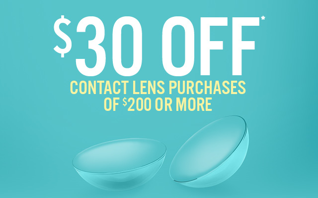 Contact Lens Sale: $30 Off orders of $200 or more
